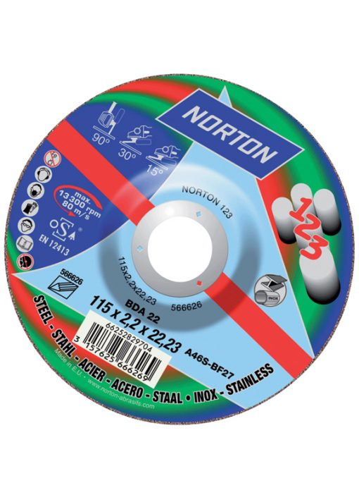 Norton 123 Cutting And Grinding Disc